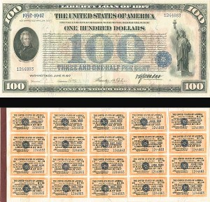 $100 Liberty Loan of 1917 - SOLD