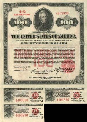 $100 Third Liberty Loan Bond