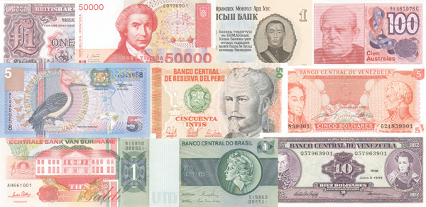 World Paper Money Collection 300 Diffe