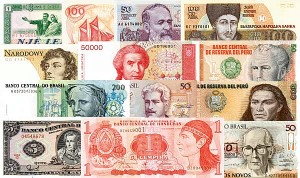 100 Different Notes - Foreign Paper Money