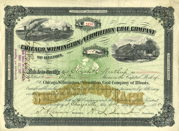 Chicago, Wilmington and Vermillion Coal Company - SOLD