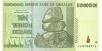 Zimbabwe 10 Trillion Dollar Note only 2 available