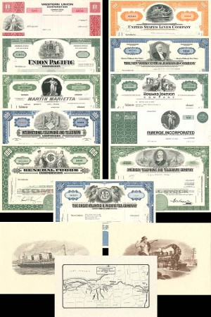 11 Great Corporations of the U.S. & 3 Prints