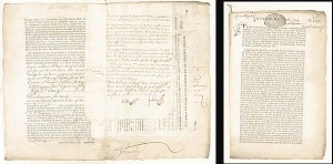 "1734 ""Tontine"" Related French Document - SOLD"