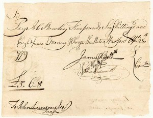 1770's War Dated Manuscript Pay Order