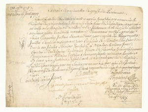 1787 French Document - SOLD