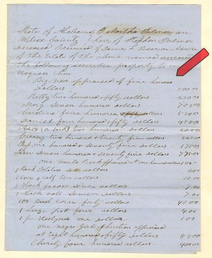 Several Slaves with Values Document