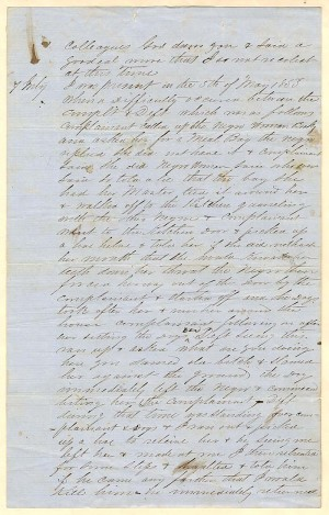 Slavery Document of 1853 - SOLD
