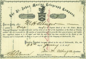 St. Johns Marine Telegraph Company - SOLD