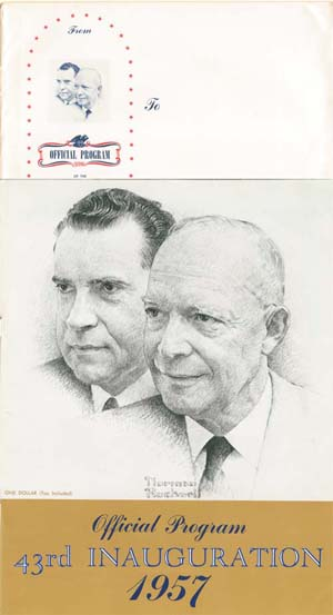 Presidential Inauguration 1957<br>Dwight D. Eisenhower <br> Richard M. Nixon