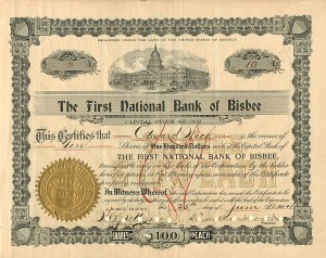 First National Bank of Bisbee - SOLD