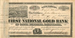 First National Gold Bank of Santa Barbara, California - SOLD