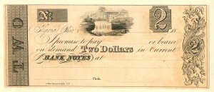 2 Dollars Bank Notes - SOLD