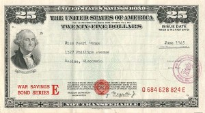 25 Dollar Savings Bond