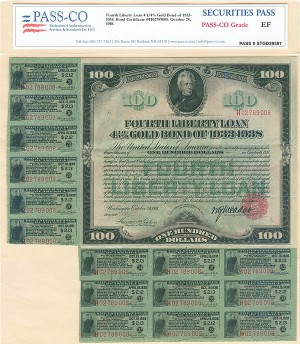 Fourth Liberty Loan - World War I - SOLD