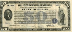 $50 Liberty Loan of 1917 - SOLD