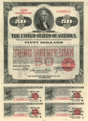$50 Third Liberty Loan Bond