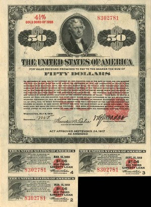 $50 Third Liberty Loan Bond of 1928