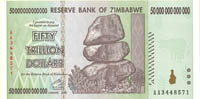 Zimbabwe 50 Trillion Dollar Note - 70 PIECES AVAILABLE $55 EACH