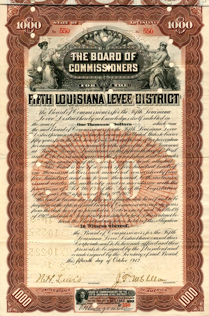 Fifth Louisiana Levee District - SOLD