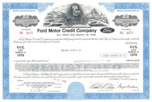 Ford Motor Credit Company - Famed Company from Ford vs. Ferrari Movie - Bond