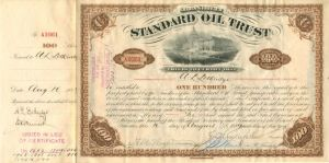 Freeman - Standard Oil Trust - Stock Certificate - SOLD