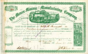 Mercer Mining and Manufacturing Company Issued to Elliott Roosevelt