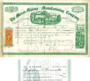 Mercer Mining and Manufacturing Company transferred to Anna L. Roosevelt