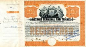 Detroit Terminal and Tunnel - $10,000 - Bond