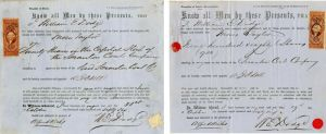 Scranton Coal Company - Pair signed by Wm. E. Dodge, Sr. on both