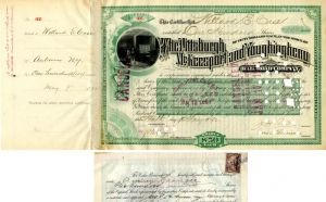 Pittsburgh, McKeesport and Younghiogheny Railroad Company transferred to Andrew Carnegie - Stock Certificate