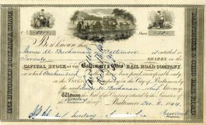 Baltimore & Ohio Railroad Company Issued to James M. Buchanan
