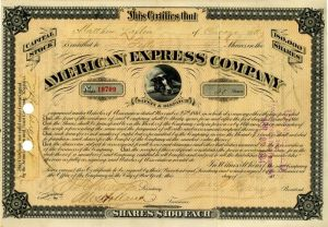 American Express Company signed by William G. Fargo