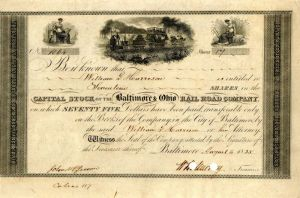 Baltimore & Ohio Rail Road Company Issued to William G. Harrison
