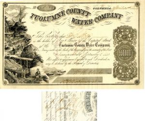 Tuolumne County Water Company signed by D.O. Mills