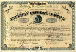 American Express Company Signed by James F. Fargo