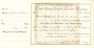 South Eastern Dakota Railroad Company signed by Robert Harris