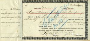 Northern Express Company signed by Jas. N. Hill
