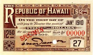 Republic of Hawaii - $12.50 - SOLD