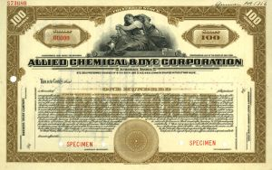 Allied Chemical & Dye Corporation - Stock Certificate - SOLD
