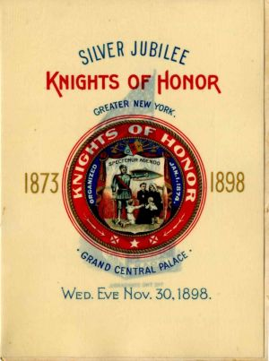 Silver Jubilee Knights of Honor Celluloid