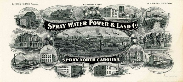 Spray Water Power & Land Co. Blotter