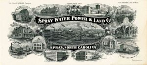 Spray Water Power & Land Co. Blotter