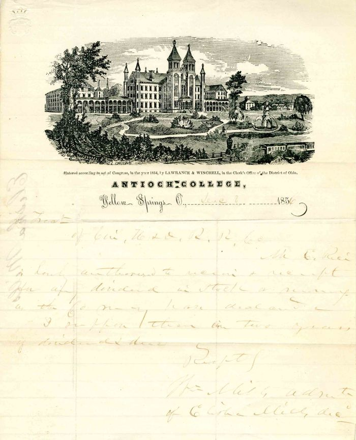 Antioch College note paper - SOLD