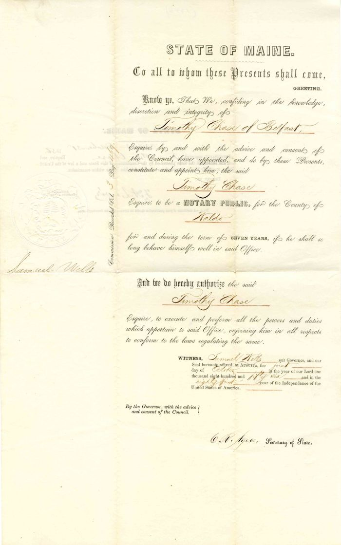 Appointment of Notary Public - SOLD