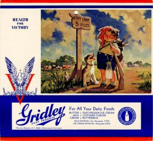 Gridley Dairy Products Calendar