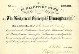 Publication Fund of the Historical Society of Pennsylvania