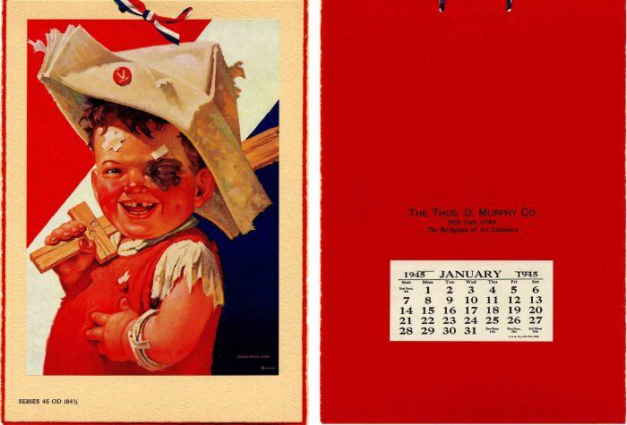 "Sample Calendar of the ""Conquering Hero"""