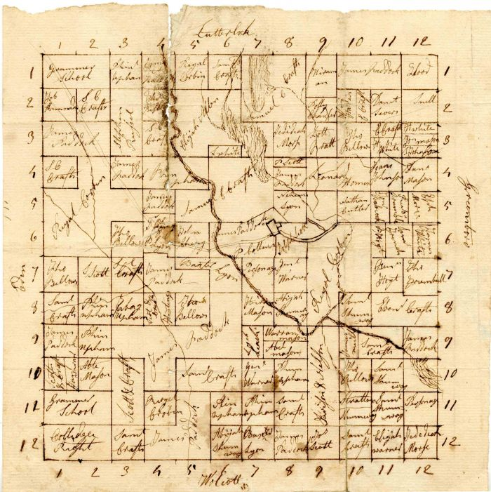 Map of estate of Governor Erastus Fairbanks - SOLD