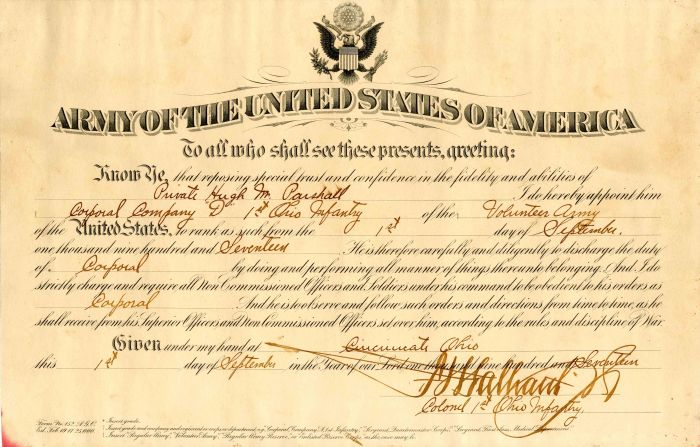 Appointment of Army Corporal